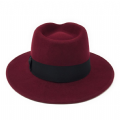 Wine - Indy Crushable Fedora Hat - Wool